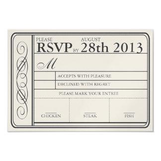 Vintager Hochzeits-Karte UAWG II Punchout golden 8,9 X 12,7 Cm Einladungskarte
