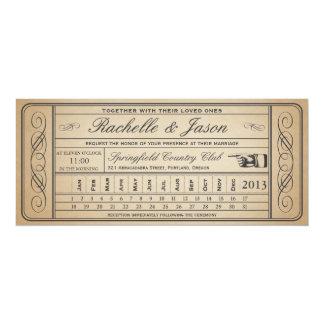 Vintager Hochzeits-Karteii Punchout 10,2 X 23,5 Cm Einladungskarte