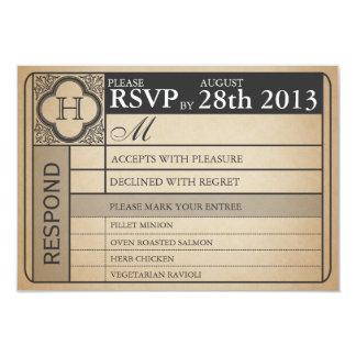 Vintager Hochzeits-Karteiii Punchout 8,9 X 12,7 Cm Einladungskarte