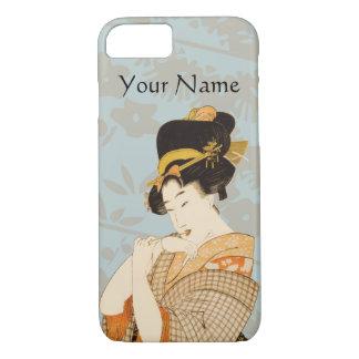 Vintager japanischer Geisha-Mädchen-Entertainer iPhone 8/7 Hülle