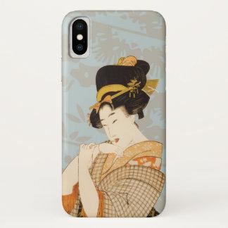 Vintager japanischer Geisha-Mädchen-Entertainer iPhone X Hülle
