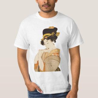 Vintager japanischer Geisha-Mädchen-Entertainer T-Shirt