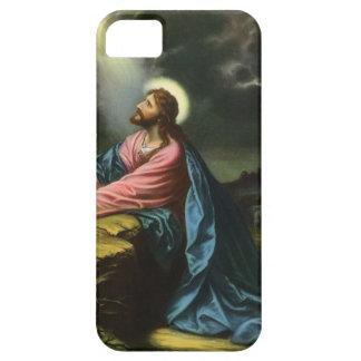 Vintager Jesus Christus, der in Gethsemane betet iPhone 5 Hüllen