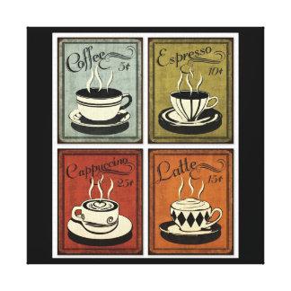 Vintager Kaffee-Kunst-Druck Leinwand Drucke