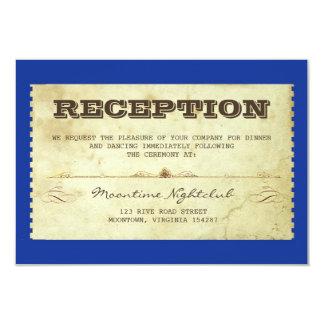 Vintager Kartenhochzeits-Empfangsentwurf 8,9 X 12,7 Cm Einladungskarte