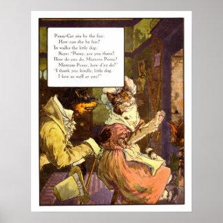Vintager Kinderzimmer-Druck-GeliebtePussycat Poster