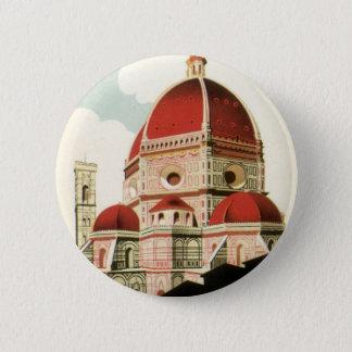 Vintager KircheDuomo Reise-Florenz Firenze Italien Runder Button 5,1 Cm