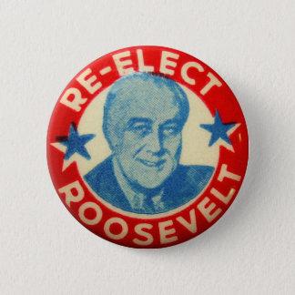 Vintager Kitsch wählen Roosevelt-Knopf-Kunst FDR Runder Button 5,7 Cm