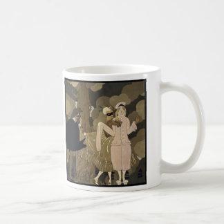 Vintager Kunst-Deko, Überraschung durch George Kaffeetasse