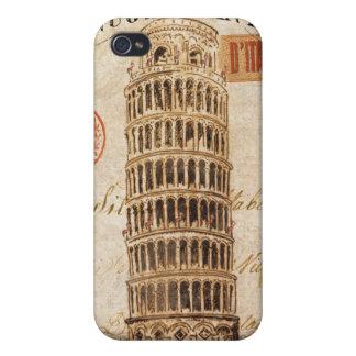 Vintager lehnender Turm von Pisa Hülle Fürs iPhone 4