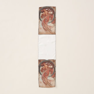 Vintager Mode-Schal ft. Alphonse Mucha der Tanz Schal