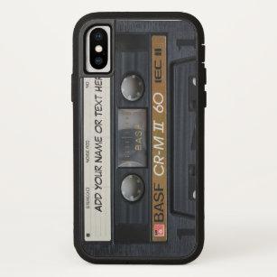 Vintager Musik-Kassetten-Band-Blick iPhone X Hülle