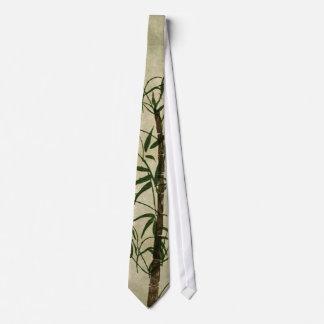 Vintager orientalischer Bambus 1 Bedruckte Krawatten