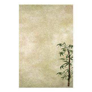 Vintager orientalischer Bambus 1 Briefpapier