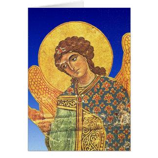 Vintager orthodoxer Ikon, Engel Gabriel Karte