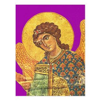 Vintager orthodoxer Ikon, Engel Gabriel Postkarte