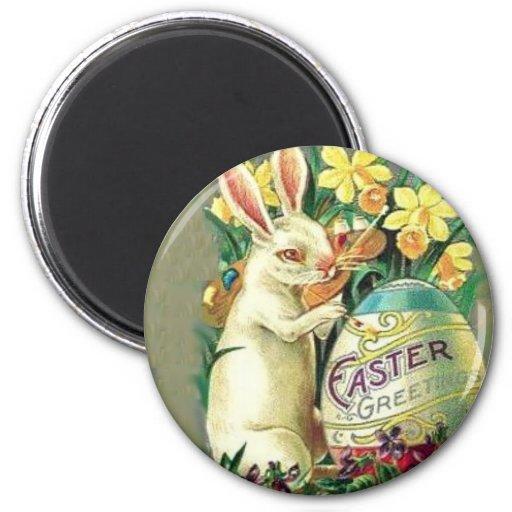 Vintager Osterhasen-Magnet Kühlschrankmagnet