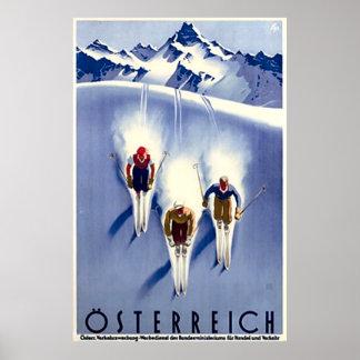 Vintager Österreich Ski Poster