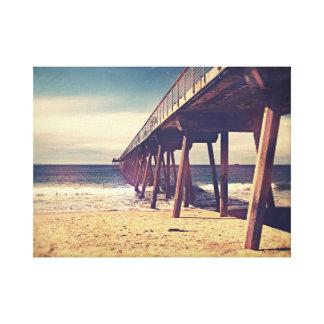 Vintager Ozean-Pier Leinwanddruck