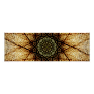 Vintager panoramischer Mandala der Farbe| Poster