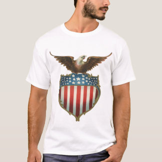 Vintager patriotischer, kahler Adler mit T-Shirt