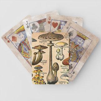 Vintager Pilz-Spielkarten Poker Karten
