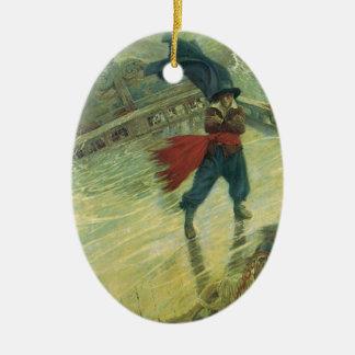 Vintager Pirat, der Fliegende Holländer durch Ovales Keramik Ornament