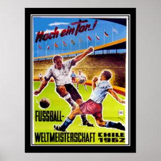 Vintager Plakat Fußball retro