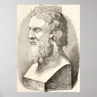 Vintager Plato die Philosophen-Illustration Poster