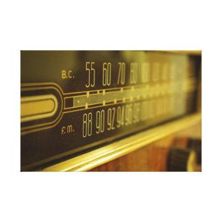 Vintager Radio - das Glühen Galerie Falt Leinwand