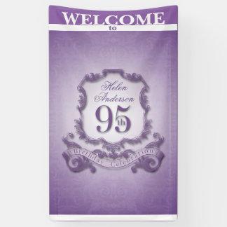Vintager Rahmen 95. Geburtstags-Feier Fahne Banner