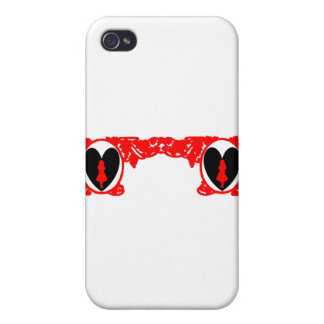 Vintager Rahmen Liebe-Alices im Rot iPhone 4/4S Cover