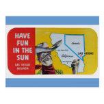 Vintager Reise-Entwurf Las Vegas Navada Postkarten