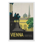 Vintager Reise-Plakat-Druck nach Wien Poster