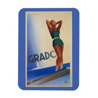 Vintager Reise-Plakat Pinup Grado italienischer Rechteckige Magnete