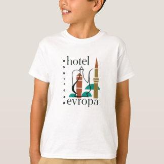 Vintager Reise-Sarajevo-Hotel-Aufkleber T-Shirt