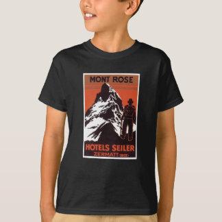 Vintager Reise Zermatt die Schweiz Hotel-Aufkleber T-Shirt