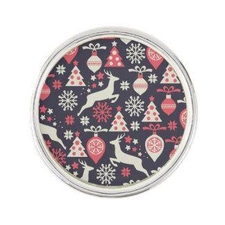 Vintager Retro Weihnachtsmuster-Feiertag Anstecknadel