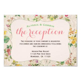 Vintager rosa eleganter Hochzeits-mit Karte