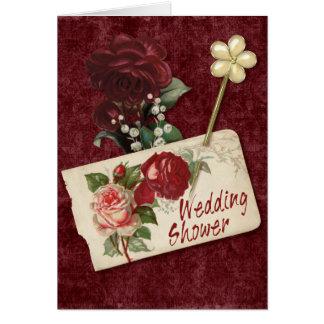 Vintager Rosen-Polterabend Grußkarte