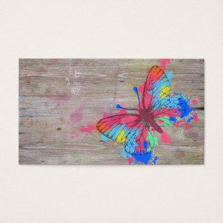 Vintager Schmetterling der coolen niedlichen Visitenkarte