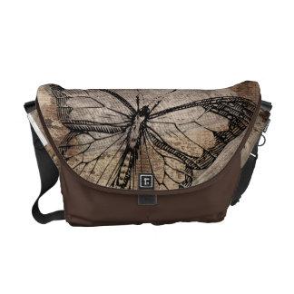 Vintager Schmetterling Kuriertasche
