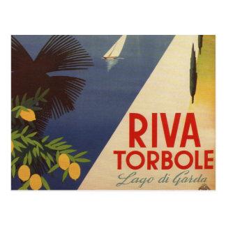 Vintager See Garda Riva Torbole Italien Tourismus Postkarte