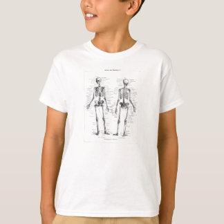 Vintager Skeleton menschlicher Anatomie-Knochen T-Shirt