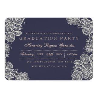 Vintager Spitze-Abschluss 12,7 X 17,8 Cm Einladungskarte