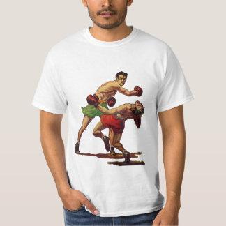 Vintager Sport, Boxer in einem Verpacken-Kampf T-Shirt