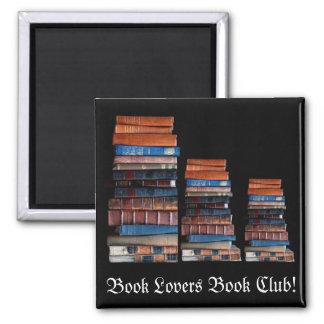 Vintager Stapel alte Bücher Quadratischer Magnet