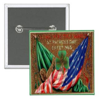 Vintager Tag 12 St. Patricks Quadratischer Button 5,1 Cm