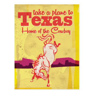 Vintager Texas-Reise-Plakatdruck Postkarte