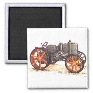 Vintager Traktor Quadratischer Magnet